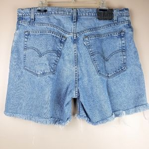 Levi's vintage 90s cutoff denim shorts sz 38 USA